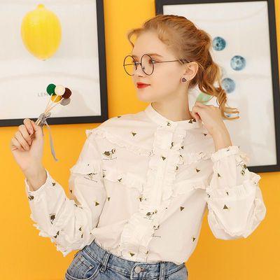 Kuhnmarvin很仙的上衣设计感长袖衬衫女2020年新款秋学生宽松洋气