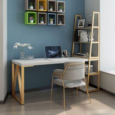 北欧实木书桌书架组合简约现代台式电脑桌家用写字桌书柜一体桌子