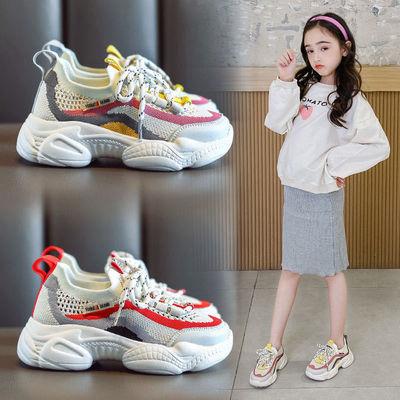 女童运动鞋2020春秋新款儿童网鞋时尚老爹鞋单鞋女童鞋子透气网面