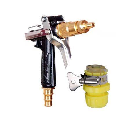 热销宝塔高压洗车水枪套装家用浇花冲刷洗车水管软管5-50米金属水
