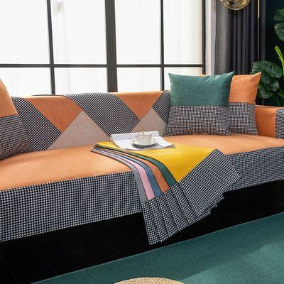 北欧沙发垫雪尼尔四季通用布艺防滑坐垫简约现代沙发套罩巾盖布