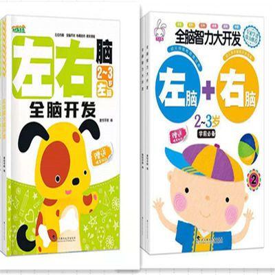 正版全脑智力开发2-6岁宝宝智力开发训练贴纸书玩具书