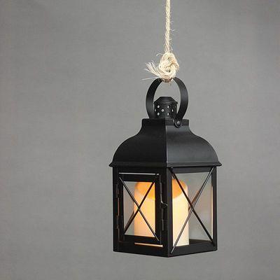 欧式蜡烛灯笼防风烛台铁艺风灯摆件烛台灯复古手提灯马灯家居饰品