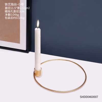 复古铁艺烛台摆件创意家用烛光晚餐道具装饰品个性家居餐桌小摆设