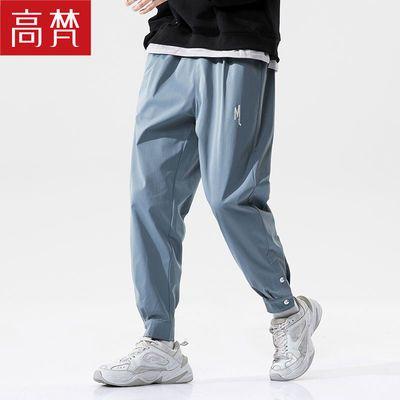 高梵休闲裤男秋季宽松裤子男潮流卫裤工装弹力运动束脚裤长裤子
