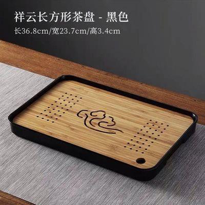 茶盘简约家用实木小茶台简易花梨木盘沥水排水长方形密胺功夫茶具