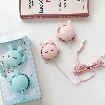 74433/卡通有线耳机可爱女生学生少女心挂耳式儿童OPPO华为vivo苹果通用