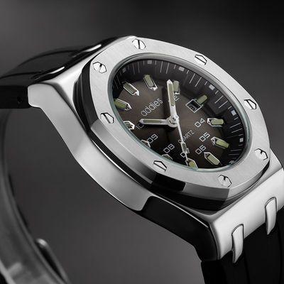 进口机芯手表男全自动机芯表潮流精钢带男表夜光防水手表军表腕表