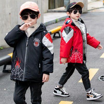 新款男童羽绒服童装连帽小孩白鸭绒中长款外套两面穿宝宝冬装冬季