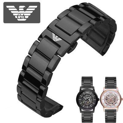 阿玛尼手表带原装钢带黑色配AR60008 2447 60003 2441 2433男表带