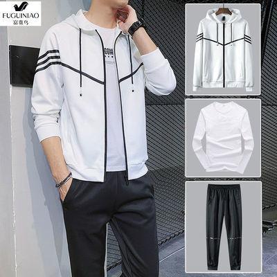 富贵鸟套装男士卫衣韩版两件套春秋季长袖两三件套运动潮流中青年