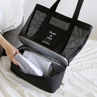 干湿分离游泳包女多功能双层便当包旅行收纳袋洗漱包户外装备用品