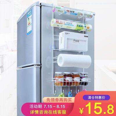 多功能六层冰箱侧挂架厨房用品置物架纸巾调味料保鲜袋收纳壁挂架