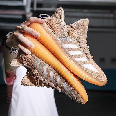 康凯达人新款夏季运动鞋时尚休闲鞋高品质真爆飞织男鞋椰子