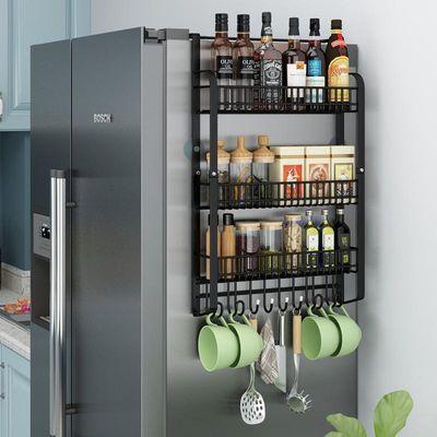 加宽多层冰箱侧壁挂架调味品收纳架厨房置物大容量调料酱油醋瓶架