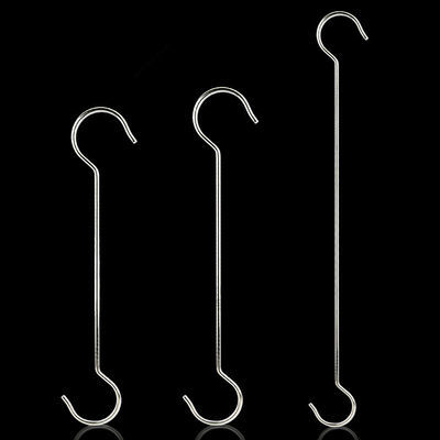 加粗不锈钢S钩S型挂钩厨房S弯形小钩子服装加长S勾子长杆长柄