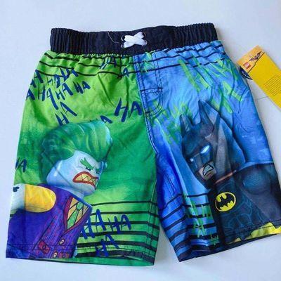 儿童沙滩裤图案,复仇者联盟沙滩裤,乐高沙滩裤,买一送一