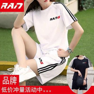 短裤运动服套装女夏季百搭微胖女装韩版2020新款潮两件套夏天休闲