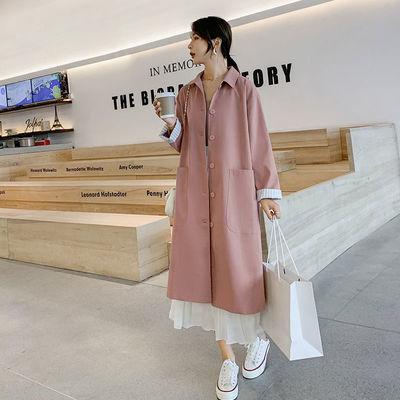 中长款风衣外套女2020秋装新款韩版小个子单排扣宽松薄款气质大衣【8月7日发完】