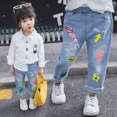 春秋2020新款女儿童牛仔裤子宝宝女牛仔长裤韩版外穿单裤潮