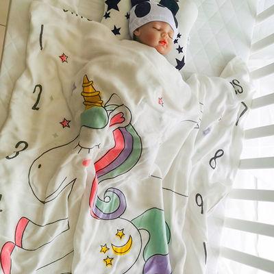 冰丝毯竹纤维婴儿盖毯儿童毛巾被子薄款夏凉被空调被宝宝包被浴巾