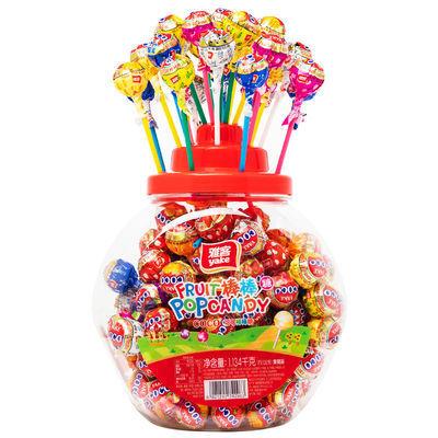 【罐装更实惠】雅客棒棒糖零食批发网红COCO水果糖儿童小零食糖果