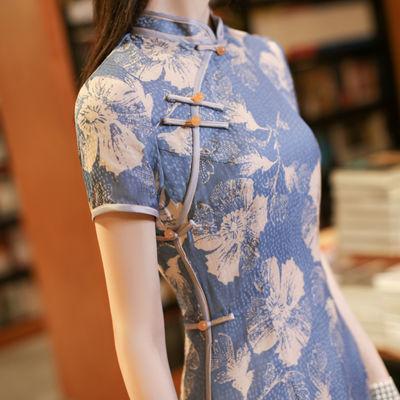 21000/改良版旗袍连衣裙复古优雅年轻款少女蚀骨轻熟中国风中长裙日常