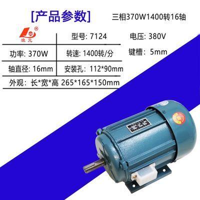分马力感应电动机250/370/550/750W单相220v电机小型380V三相台钻