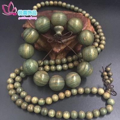 天然正宗绿檀木佛珠手串转运富贵檀香木手链男女士款饰品厂家