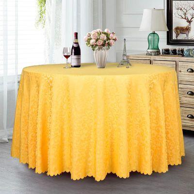 酒店桌布圆桌台布加厚圆形宴会婚庆会议台布欧式布艺餐厅餐桌桌布