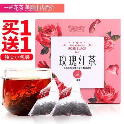 玫瑰红茶花茶花草养生茶叶小独立包红茶干玫瑰补气血养颜袋泡茶