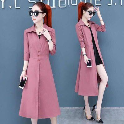 风衣女中长款2020早秋新款韩版修身显瘦百搭薄款时尚气质大衣外套