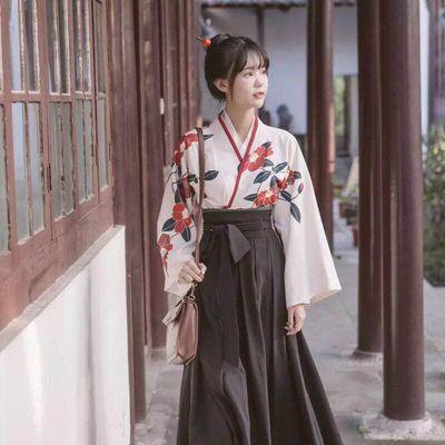 汉服女学生汉元素齐腰半裙日常广袖中国风川黛虞美人东方复古女装