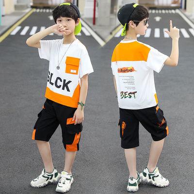 儿童装男童夏装套装2020新款中大童男孩夏季洋气短袖两件套韩版潮