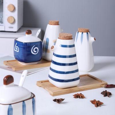 创意陶瓷调料壶酱油壶醋瓶日式家用厨房用品油瓶套装调料瓶