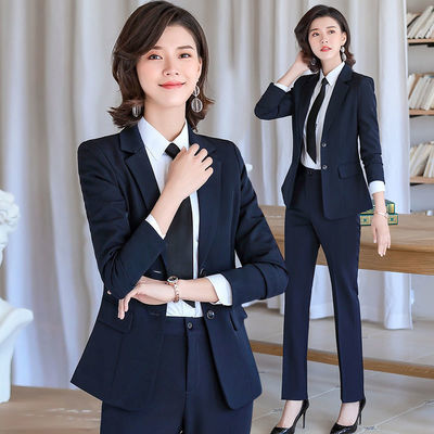 职业装西装套装女韩版时尚气质工装工作服大学生面试上班正装秋冬