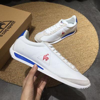 法国大公鸡男鞋夏季透气运动鞋复古阿甘休闲鞋网面小白鞋女