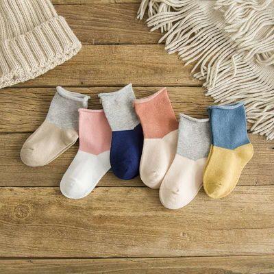 新生儿宝宝全棉袜子不勒脚卷边地板袜可爱夏秋冬儿童袜子保暖防掉