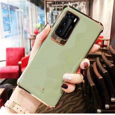 华为p40手机壳男女全包硅胶防摔软壳p40pro可爱网红超薄新款电镀