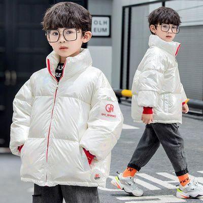 儿童羽绒服男童立领外套反季女童炫彩棉袄长罗纹袖口加厚冬1-10岁