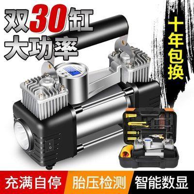 车载双缸充气泵大功率汽车用打气泵轮胎12V电动高压打气筒
