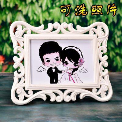 洗照片创意装饰欧式相框摆台韩式简约组合架照片墙挂墙6寸7寸8寸