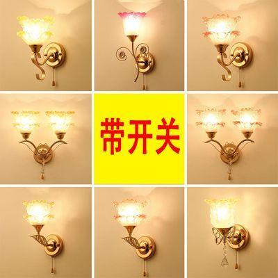 LED壁灯带拉线开关拉绳床头灯卧室 现代简约客厅楼梯过道灯具灯饰