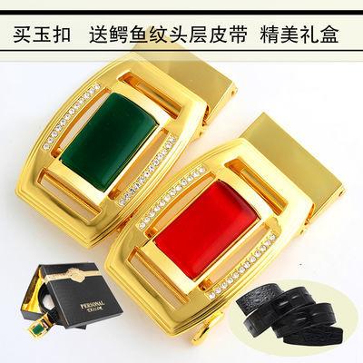 头3.5CM送皮带皮仕梵系新款玛瑙夜光宝石皮带扣男士自动扣