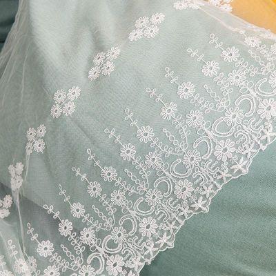 超宽42CM 蕾丝网纱花边辅料刺绣服装网花装饰布料diy手工 长1米