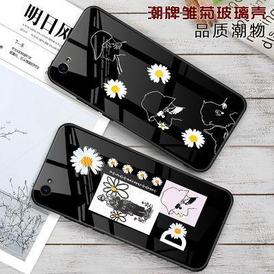 OPPOA57手机壳A59s玻璃防摔保护套A52少女款镜面a59日韩潮牌外壳