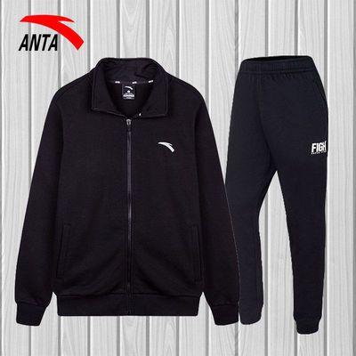 安踏运动套装2020新款秋冬季保暖外套休闲棉裤男士两件套官网旗舰