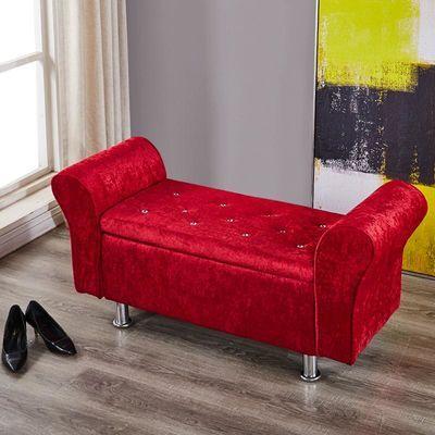 布艺换鞋凳欧式储物长凳服装店沙发凳多功能收纳床尾凳试衣间凳子