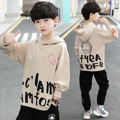 童装男童卫衣2020年春秋季新款中大童男孩上衣连帽儿童套头衫长袖