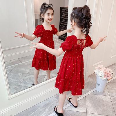 假两件女童裙子韩版气质小清新连衣裙2019春秋新款女宝宝条纹